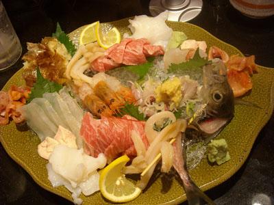 回し寿司 活① 刺し盛り