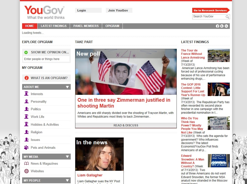 ※Picture:Screen shot of Yougov's official Website