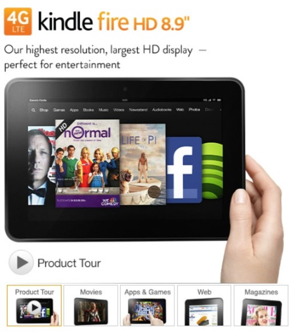 ※Picture:Screen shot of Kindle's Product Website