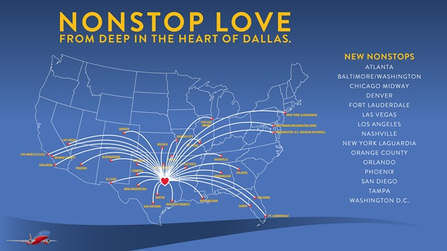 New Nonstop Service From Love Field