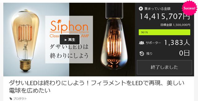 ダサいLEDは終わりにしよう!フィラメントをLEDで再現、美しい電球を広めたい