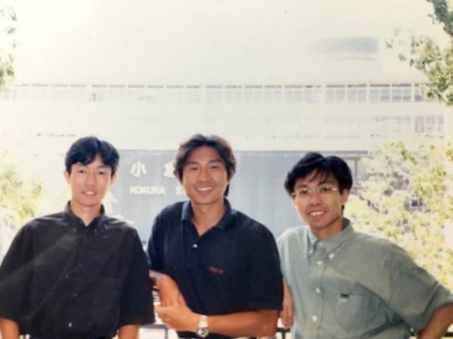 武豊さん(左)と荻原健司さん(真ん中)との対談(1996年)