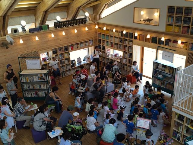 図書館カフェでのイベントの様子